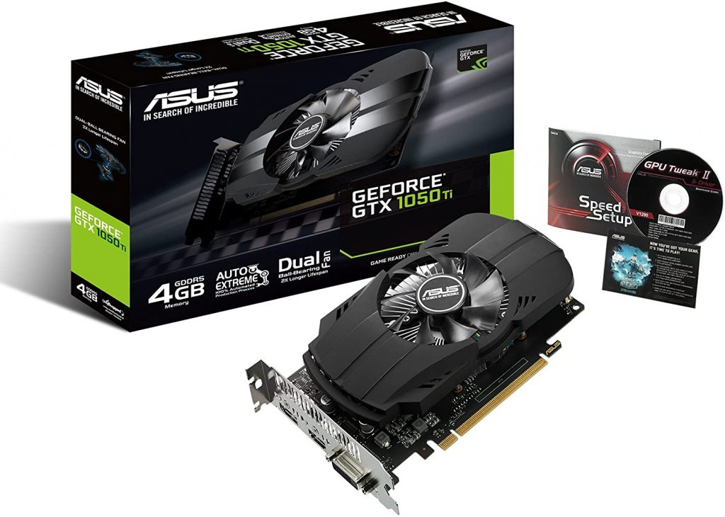 Asus Nvidia GeForce GTX 1050 Ti ddr5